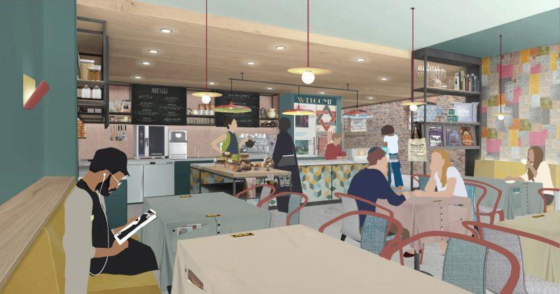 Café design by Citizens Design Bureau.