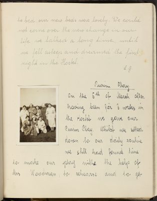 Harris House Girls Diary Entry (1940) from MJM collection