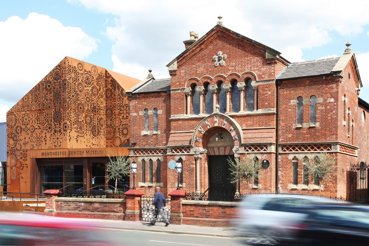 Manchester Jewish Museum exterior, image by James Houston, May 2021
