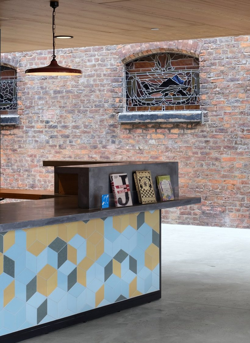 Manchester Jewish Museum welcome desk, Philip Vile 2021