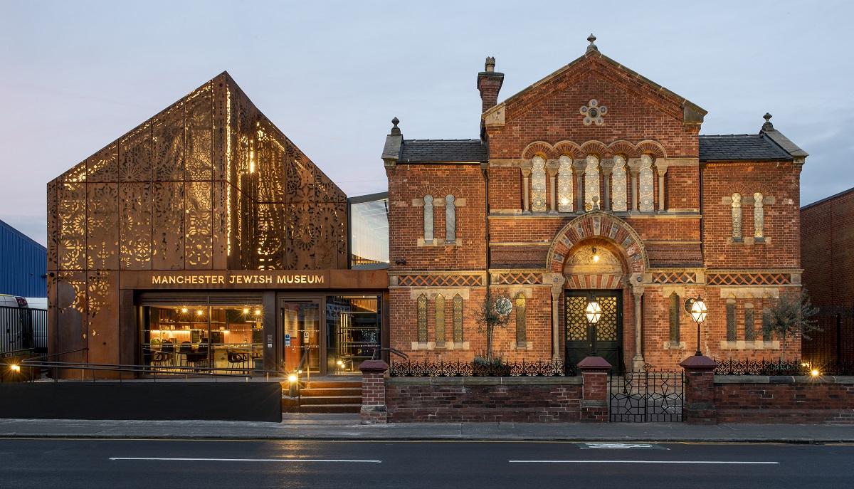 Manchester Jewish Museum at dusk, Joel Chester Fildes, 2021