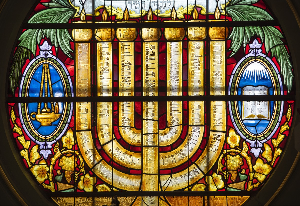 Synagogue stained Glass window Joel Chester Fildes 2021
