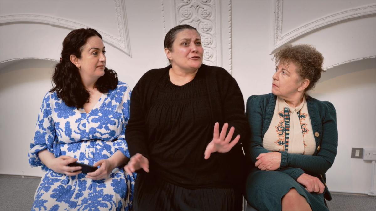 A Jewish Love Story previous cast - Lanna Joffrey, Katy Slater, Nicky Goldie